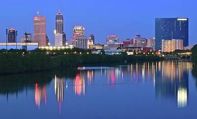 Panoramic Indianapolis Poster
