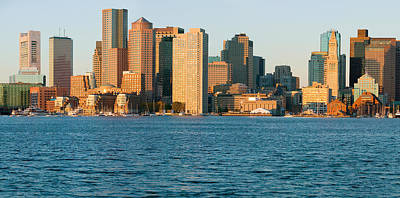 Panoramic Of Boston Harbor Poster
