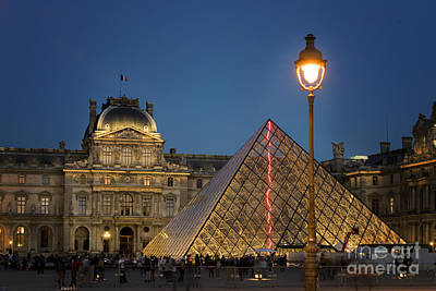 Louvre Museum At Twilight Poster