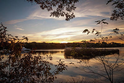 Poster featuring the photograph Pawcatuck River Sunrise by Kirkodd Photography Of New England