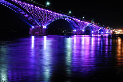 Peace Bridge Supporting Breast Cancer Awareness Poster by Michael Frank Jr