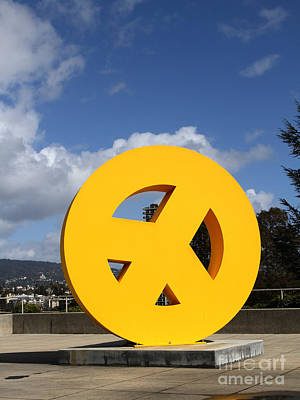 Peace From The Oakland Museum . Oakland California . 7d13411 Poster by Wingsdomain Art and Photography