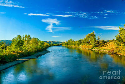 Peaceful Payette River Poster