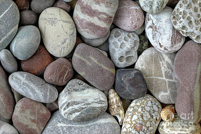 Pebbles In Earth Colors - Stone Pattern Poster by Michal Boubin