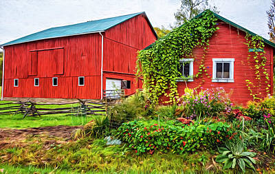 Pennsylvania Barn 3 - Paint Poster by Steve Harrington