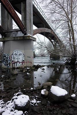 Peoples Park Bridge Spokane River Poster