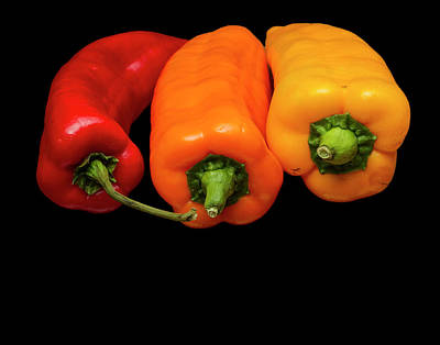 Poster featuring the photograph Peppers Red Yellow Orange by David French
