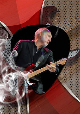 Pete Townshend Art Poster by Marvin Blaine