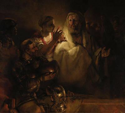 Peter's Denial Poster by Rembrandt van Rijn