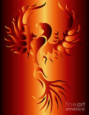 Phoenix Fire Poster by Robert Ball