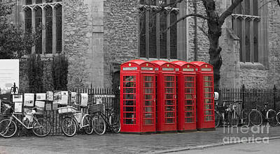 Phonebox In Red Poster by David Warrington