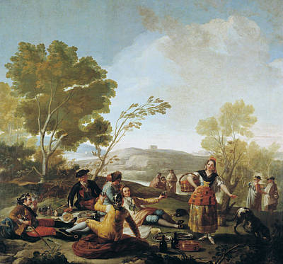 Picnic On The Banks Of The Manzanares  Poster by Francisco Goya