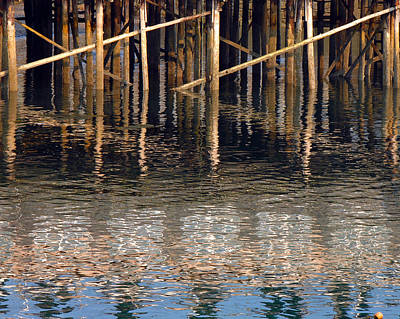 Pier And Water Poster