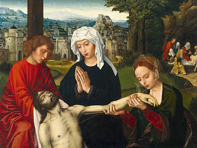 Pieta At The Foot Of The Cross Poster by Ambrosius Benson