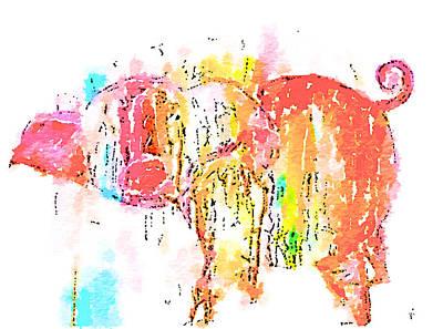 Piggy Wiggy 2 Poster by Vanessa Katz