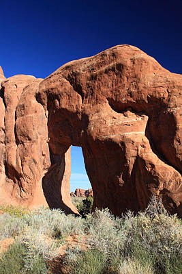 Pine Tree Arch In Arches National Park Poster by Pierre Leclerc Photography