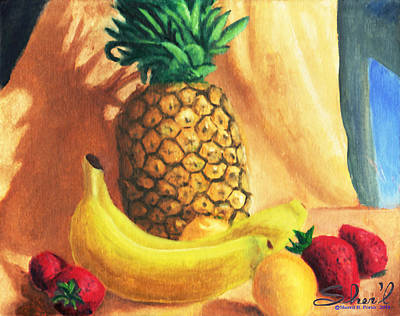 Poster featuring the painting Pineapple Delight by Sherl
