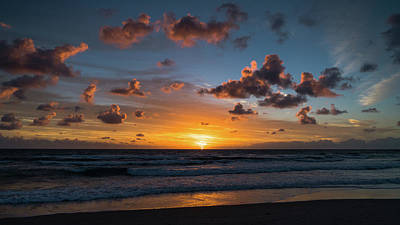 Pink Cloud Sunrise Delray Beach Florida Poster