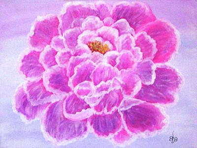 Poster featuring the painting Pink Peony by Sonya Nancy Capling-Bacle