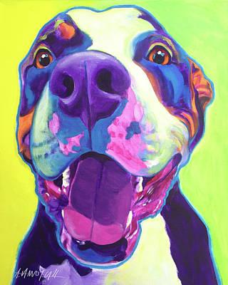 Pit Bull - Mayhem Poster by Alicia VanNoy Call