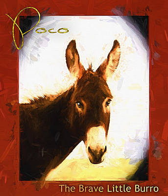 Poco The Brave Little Burro Poster by Shannon Story