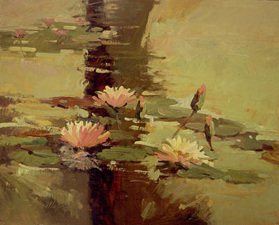 Pond Blossoms - Water Lilies Poster