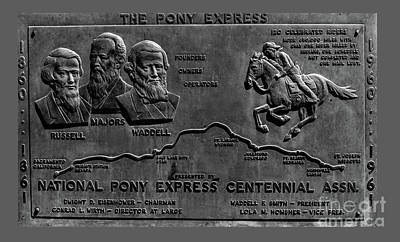 Pony Express Route Poster
