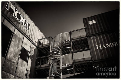 Pop Brixton - Spiral Staircase - Industrial Style Poster by Lenny Carter
