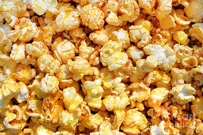 Popcorn Background Poster by Carlos Caetano