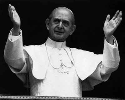 Pope Paul Vi, Circa Early 1970s Poster