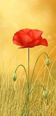 Poppy Poster by Veronica Minozzi