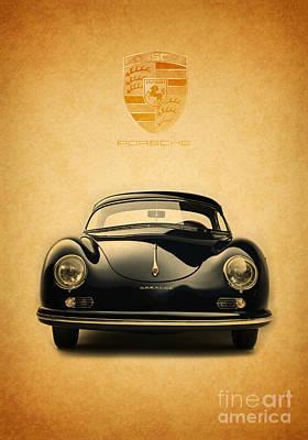 Porsche 356 Poster by Mohamed Elkhamisy