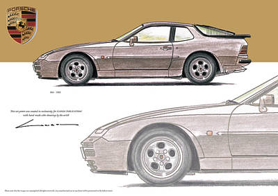 Porsche 944 1985 Poster by Luc Cannoot