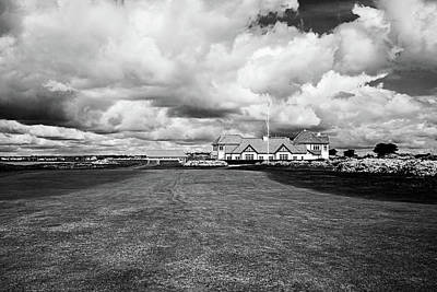Portmarnock Under The Clouds - Bw Poster