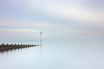 Poster featuring the photograph Portobello Seascape by Grant Glendinning