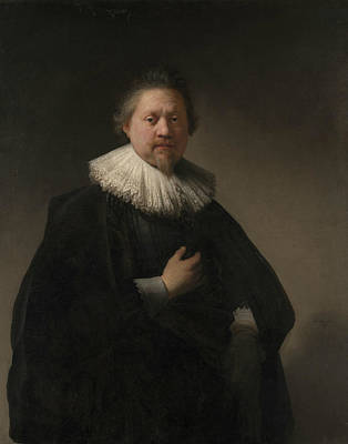Portrait Of A Man, Probably A Member Of The Van Beresteyn Family Poster by Rembrandt