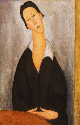 Portrait Of A Polish Woman Poster by Amedeo Modigliani