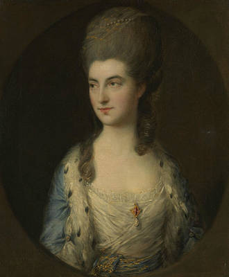 Portrait Of A Young Woman, Called Miss Sparrow Poster by Thomas Gainsborough