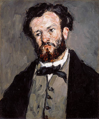 Portrait Of Anthony Valabregue Poster by Paul Cezanne