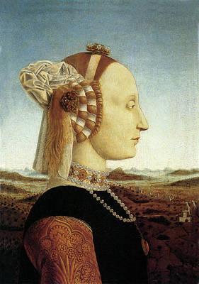 Portrait Of Battista Sforza Poster by Piero della Francesca