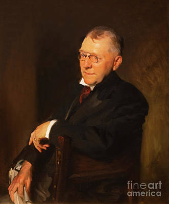 Portrait Of James Whitcomb Riley Poster by John Singer Sargent