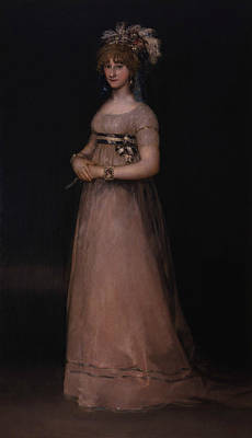 Portrait Of Maria Luisa De Borbon Y Vallabriga Poster