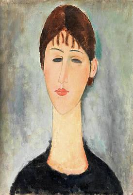 Portrait Of Mme Zborowska Poster by Amedeo Modigliani
