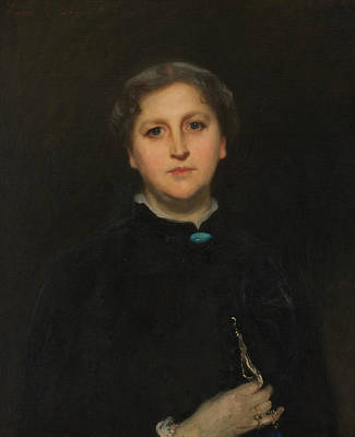 Portrait Of Mrs Raphael Pumpelly Poster by John Singer Sargent