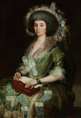 Portrait Of Senora Cean Bermudez Poster by Francisco Goya