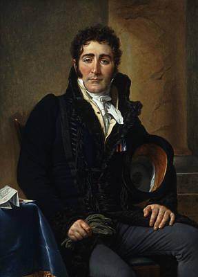 Portrait Of The Comte De Turenne Poster by Jacques-Louis David