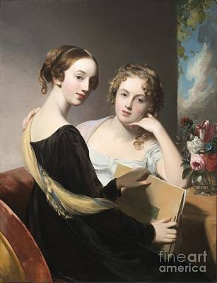 Portrait Of The Misses Mary And Emily Mceuen Poster