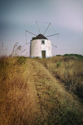 Poster featuring the photograph Portuguese Windmill by Carlos Caetano