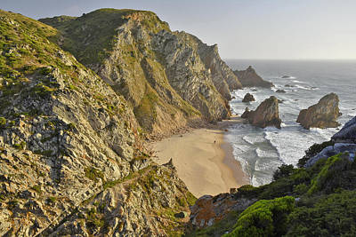 Poster featuring the photograph Praia Da Ursa Portugal  by Marek Stepan