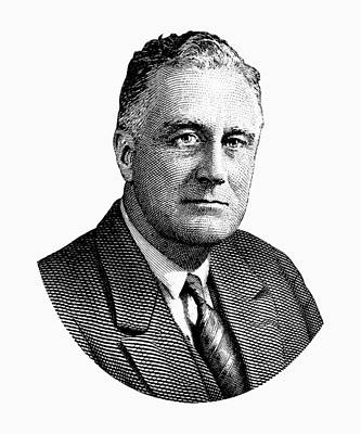 President Franklin Roosevelt Graphic  Poster by War Is Hell Store